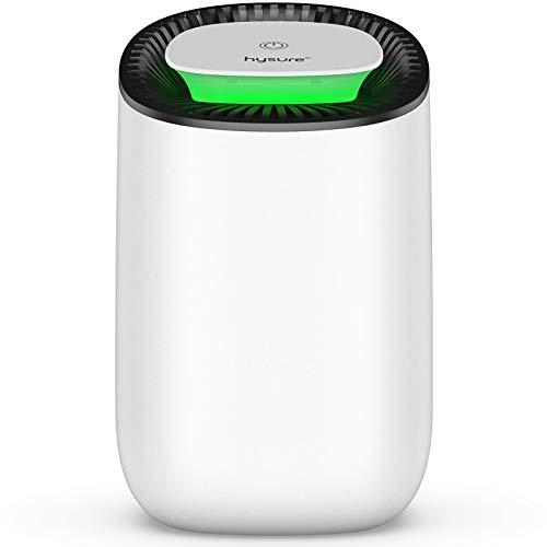 hysure Quiet and Portable Dehumidifier Electric, Deshumidificador, Home Dehumidifier for Bathroom, Crawl Space, Bedroom, RV, Baby Room (600ml)