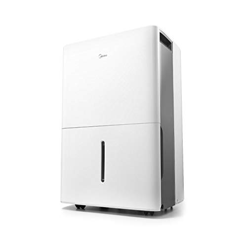 MIDEA MAD50C1ZWS Dehumidifier for up to 4500 Sq Ft with Reusable Air Filter, Ideal for Basement, Bedroom, Bathroom, New 50 Pint-2019 DOE (Previous 70 Pint)