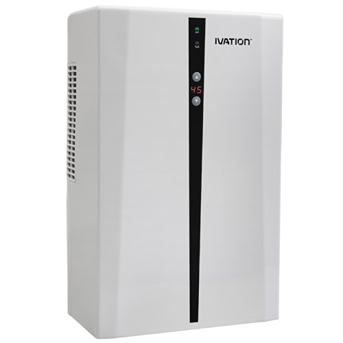 Ivation IVADM45 Powerful Mid-Size Thermo-Electric Intelligent Dehumidifier w/Auto Humidistat - For Small Spaces of Up to 100 Square Feet