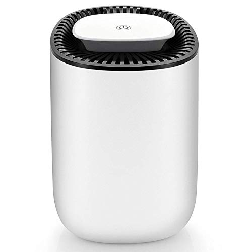 Hysure Quiet and Portable Dehumidifier Electric, Deshumidificador, Home Dehumidifier for Bathroom, Crawl Space, Bedroom, RV, Baby Room(600ml)