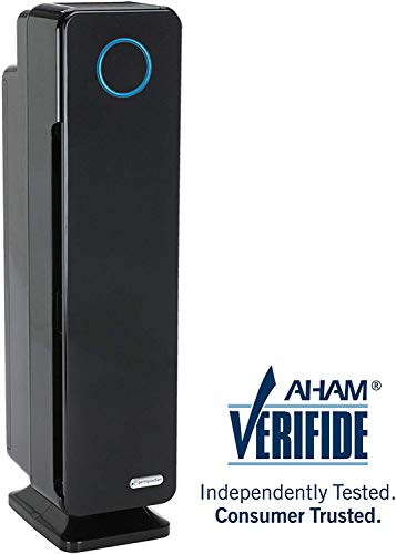 "Germ Guardian Air Purifier for Large Rooms, True HEPA Filter for Allergies, Pollen, Smoke, Dust, Pet Dander, UVC Sanitizer Eliminates Germs, Mold, Odors, Quiet for Home, Bedrooms, 28"" 4-in-1 AC5350B"