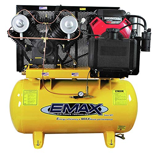 18 HP Gas Air Compressor, 60-Gallon, Horizontal, Electric Start, Industrial Plus Series, Model EGES1860ST by EMAX Compressor