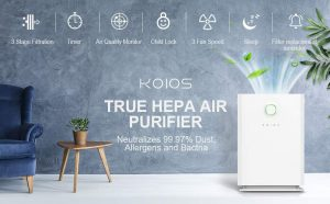 KOIOS Large Air Purifier True HEPA Filter Review